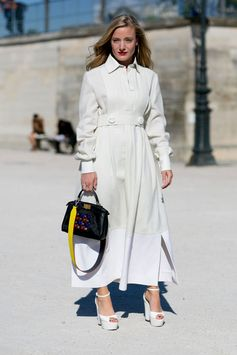 The Best Street Style at Paris Fashion Week Spring 2016 | White Out