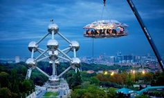For an adrenaline dining experience, try dining in the sky! This concept has now spread to other countries, but the original concept in Brussels has a spectacular location overlooking the Arts Park.