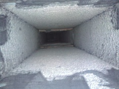 A dirty air duct - needs cleaning!