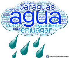 Nube de palabra sobre el agua | Más materiales en www.profedeele.es y www.fb.com/PracticamosEspanol
