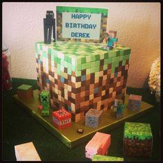 Minecraft Birthday Cake #minecraft