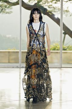 Look from the Louis Vuitton Cruise 2018 Fashion Show by Nicolas Ghesquière, presented at the Miho Museum near Kyoto, Japan