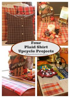 Upcycle Plaid Shirts Into Home Decor | Intelligent Domestications