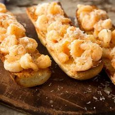 Shrimp Scampi Toast