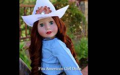 """Harmony Club 18"""" Dolls. Western Clothes that fits American Girl. http://www.harmonyclubdolls.com"""