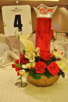 #tablescape #60thbirthday #redroses