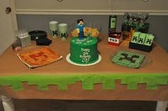 Minecraft Party Decorations #minecraft