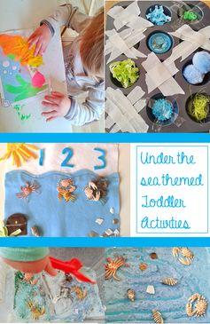 Welcome to Mommyhood: under the sea toddler activities #totschool #toddleractivities