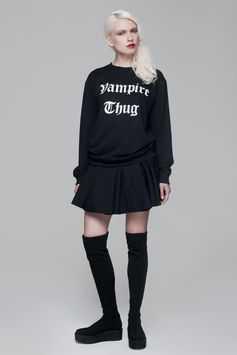 Vampire Thug Sweatshirt BLACKBLESSED  @Black Blessed #black #white #fashion #minimal #basic #elegant #designer #urban #urbanchic #dresses #pants #tshirt #top #leggings #white #simple #simplicity