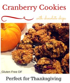 Gluten Free A-Z Blog: Cranberry Chocolate Chip Oatmeal Cookies