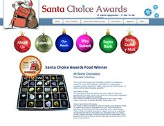 These Santa Choice Award Winning Chocolates are almost too pretty to eat!  Ah!Some Chocolates
