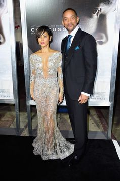 Jada Pinkett Smith and Will Smith attend Columbia Pictures screening of Concussion at Regency Village Theatre on November 23, 2015 in Westwood, California.