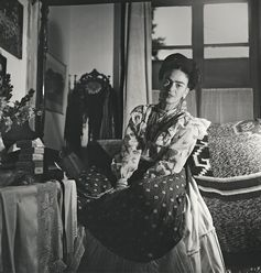 Kahlo at her Mexico City home.