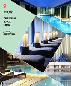 Best for Turning Back Time Where: La Reserve Hotel and Spa, Geneva, Switzerland  Though you might be most fixated on those stubborn lines on your forehead, getting older takes a toll on your entire body. This fact is not lost on La Reserve Geneva, where you'll find a multifaceted approach to turning back the clock. The hotel's Nescens better-aging program devotes four or seven days to helping you look and feel younger. It features a jam-packed itinerary that includes consultations with medical experts about everything from joint health to spider veins, personal training sessions, spa treatments and a special dietary regimen.   Cost: $3,234 for the four-day program, $4953 for the seven-day program; rooms start at $530 per night.