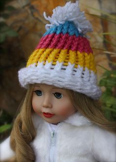 Hand made one of a kind hats for American Girl Dolls are available at www.harmonyclubdolls.com