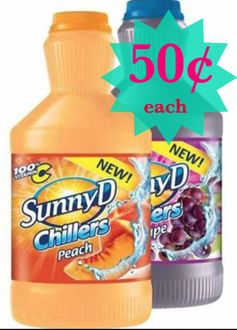 SunnyD:  $1 off 2 Chillers = 50¢ Each @ Walmart!