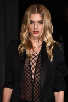 British model Lily Donaldson wearing Burberry at the new runway show in London