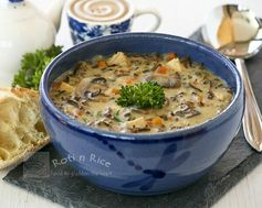 Chicken Wild Rice Soup - Remember to precook the wild rice before making the soup.