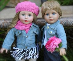 "Harmony Club Dolls 18"" girl and boy dolls, Cadence Rose and Cameron. SHOP www.harmonyclubdolls.com"