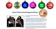 Beautiful Custom Black Lightweight Sweater - Santa Choice Award Winner!