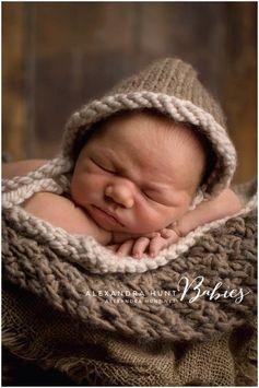 Chunky Knit Bonnet  baby knit hat toddler knit hat  by PetiteFaye, $20.00