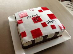 Minecraft Cake - a gamer's favourite...