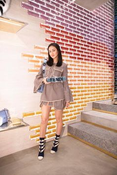 Audrey Ayaka at the #FendiOmotesando event in Tokyo.