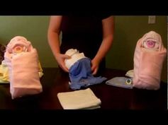 "▶ How to make a diaper ""Swaddle Baby"" (Diaper Cake) - YouTube"
