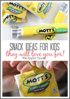 After school snack ideas!