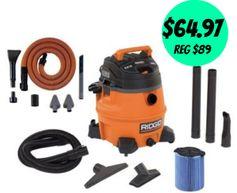 HomeDepot.com:  Rigid 14 Gallon High Performance Wet/Dry Vac = $64.97 + FREE Pickup! Regularly $89!