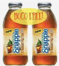 Snapple:  (Reset) BOGO FREE Straight Up Tea Coupon!