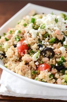 Mediterranean Quinoa and Bean Salad - This salad is quick to put together and makes a great dish to pass.