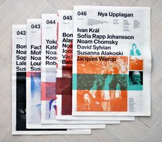 Lovely asymmetry. Nya Upplagan is a Swedish based Free newspaper that focus on culture and interviews.