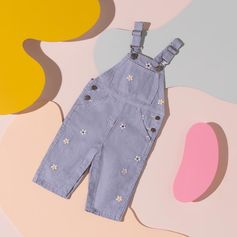 Daisy dungarees made from 100% organically grown cotton make for perfect Spring wear for Stella babies.   Shop #StellaKids online at #StellaMcCartney.com