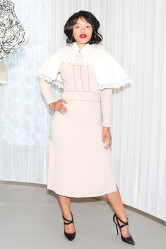 Actress Kiersey Clemons wears pieces from our new collection to the Burberry and W Magazine 'The Cape Reimagined' launch event in Los Angeles