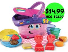 Amazon: LeapFrog Shapes & Sharing Picnic Basket = $14.99 + FREE Shipping! Regularly $21.99!