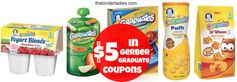 Gerber:  $5 in Graduate Product Coupons (Yogurt Blends, Grabbers, Meals, Puffs & Lil' Whoos)!