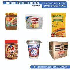 1.Sunbear Peanut Butter/Chunky/Chocolate (FELDA) 2.Kaya Pandan Gardenia 3.Agromas Kaya (Fama) 4.Adela Marjerin 5.Pelangi Marjerin 6.Super Creamlite Marjerin 7.Palm 365 Marjerin 8.Mariana Marjerin