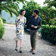 Let's go for a Saturday stroll. Captured from the Ferragamo Spring 2017 campaign shoot in Sicily, McKenna Hellam in spring's floral dress and Andreas Velencoso in the season's dip-dyed V-neck sweater and khaki green trousers. bit.ly/SalvatoreFerragamoSS17