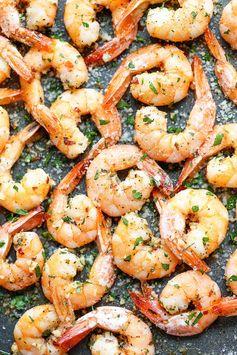 Garlic Parmesan Roasted Shrimp - Quick and easy prep for flavorful shrimp.