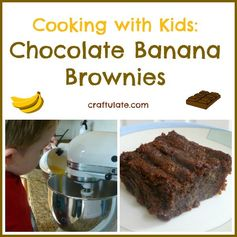 Chocolate Banana Brownies from Craftulate
