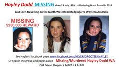 Hayley Dodd is missing and so are many others from Western Australia.  The connections with the drug network link from Perth to Sydney.  Abe Saffron linked from Perth to Sydney and so do others.