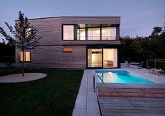 Maison en bois avec piscine, Dietlikon, Suisse