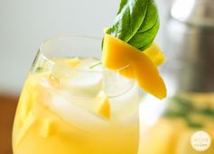 Refreshing Pineapple, Mango, and Basil Sangria - Try this one for a girls night in!