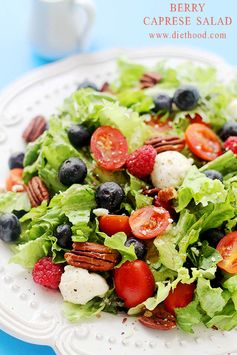 Berry Caprese Salad with Light Balsamic Vinaigrette - Keep lunch light and flavorful with this salad.