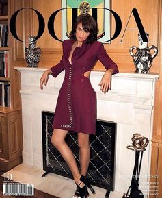 Super model Helena Christensen on the cover of Odda Magazine in a total Fendi SS16 look!