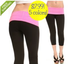 GearXS:  Grip Ladies' Yoga Pants w/ Fold Over Waistband (5 colors) = $7.99 + FREE Shipping! Regularly $34.99!