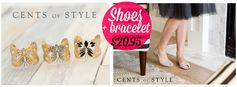 Cents of Style:  Cuff Bracelet (8 designs) + Open Toe Flat (3 colors) = $20.95 + FREE Shipping! Regularly $45!