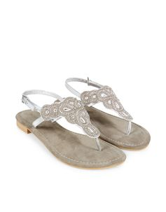 Alishia Diam Sandal   Silver   Monsoon