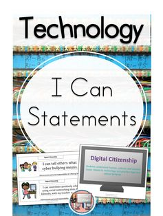 Technology NETS I Can Statements. Help your students speak the vocabulary of the 21st century classroom with these I Can Statements. Sets for the classroom teacher and sets for the computer lab specialist. $